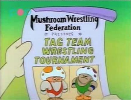 A flyer of Mushroom Wrestling Federation <br>http://pic.twitter.com/V7gbFtR8uX