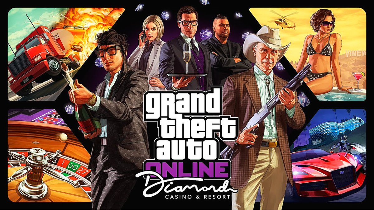 GTA Diamond Casino and Resort DLC in 4 DAYS time to grind and prep #GTAOnline   https://www. youtube.com/watch?v=wWp-l4 nfGiI  … <br>http://pic.twitter.com/VT03rDtmUp