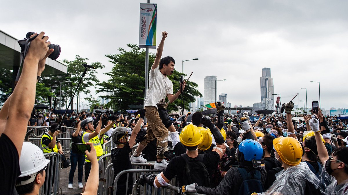 """""""The most important thing right now is to fight this battle well. It's not over."""" Meet legislator Roy Kwong, the god of the Hong Kong protests http://mag.time.com/bG9SbsZ"""