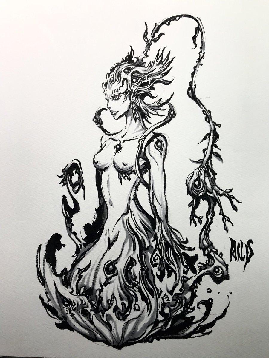 エイリス 初期スケッチ #魔戒ノ花