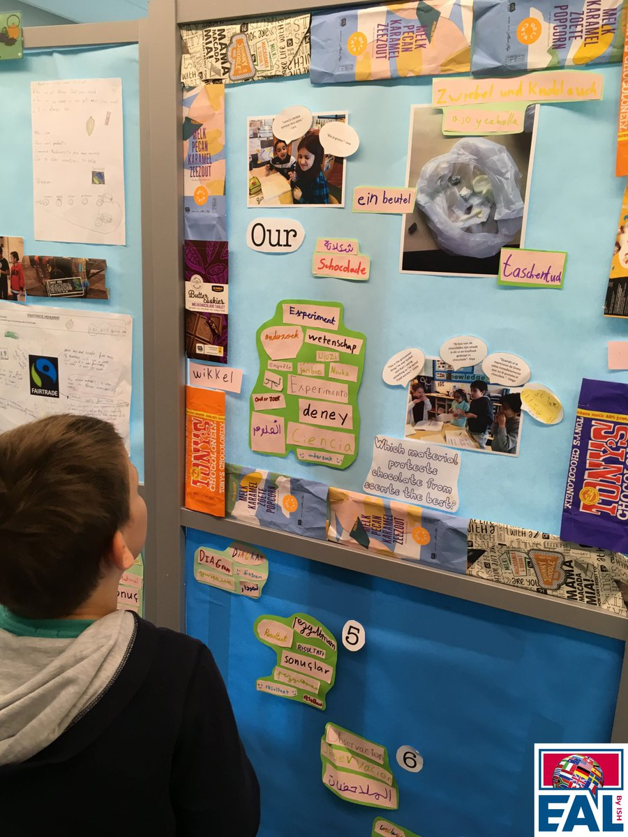 We LOVE this Y4 #multilingual display showing students investigating the science aspect of their #IPC unit. Connecting theory to practice. Continue being fabulous and innovative with the #inclusion of #alllanguages in your classroom @ClassSchippers! #celebrating #eal #ell <br>http://pic.twitter.com/8NB7hq31NV