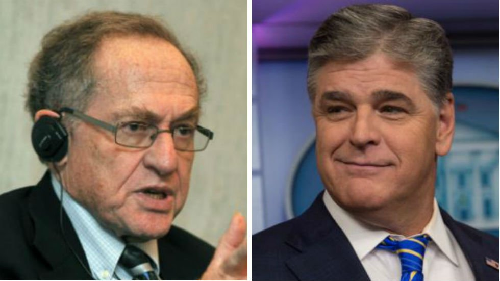 WATCH: Dershowitz confronts Hannity on-air over Trump lawyer representation https://t.co/7gSKRPNVL3 https://t.co/p8JcX7xmJb