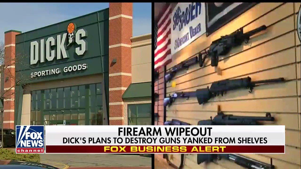 .@DICKS plans to destroy guns pulled from shelves https://t.co/aPqjjPUS6T