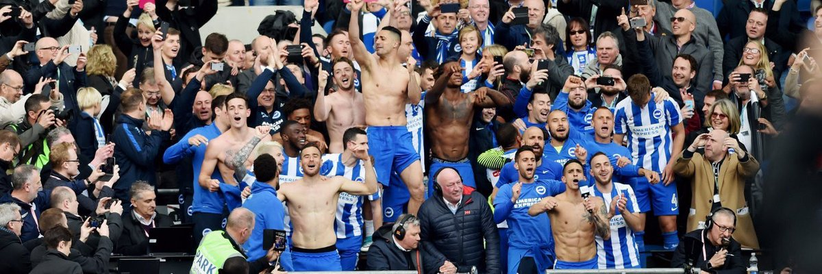 A year ago today we won promotion to the Premier League. Tonight, with your great support, we'll be giving it our all to secure a second season. @OfficialBHAFC @premierleague