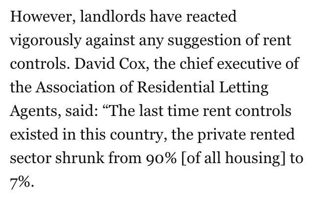 oh no not the private rental sector