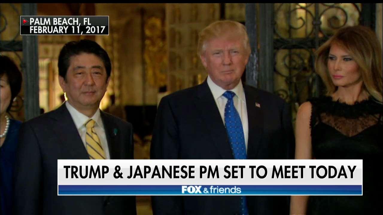 .@POTUS and Japanese PM set to meet today @foxandfriends https://t.co/UXezWUXsvu