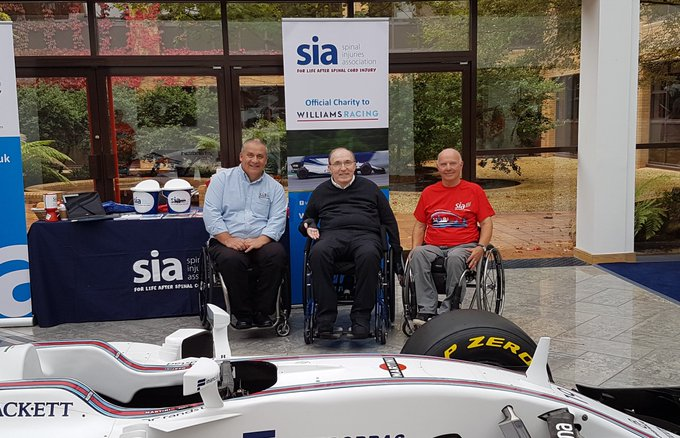 Happy birthday to Frank Williams from every at Spinal Injuries Association!