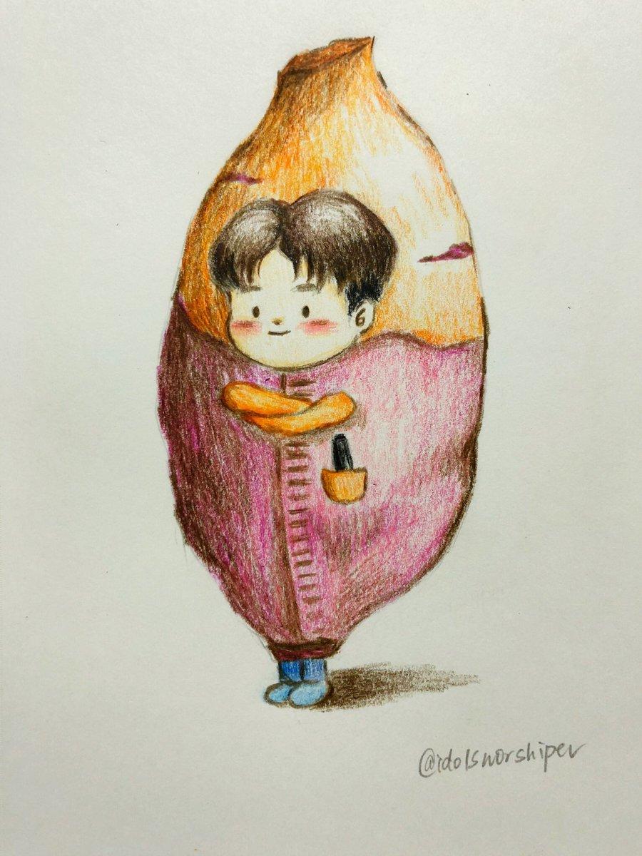 Pic ref: @BEONE1022  Like a sweet potato - #iKON #아이콘 #김진환 #송윤형 #김지원 #바비 #김한빈 #BI #김동혁 #구준회 #정찬우 #ikonfanart<br>http://pic.twitter.com/3iRuoIJ6JW