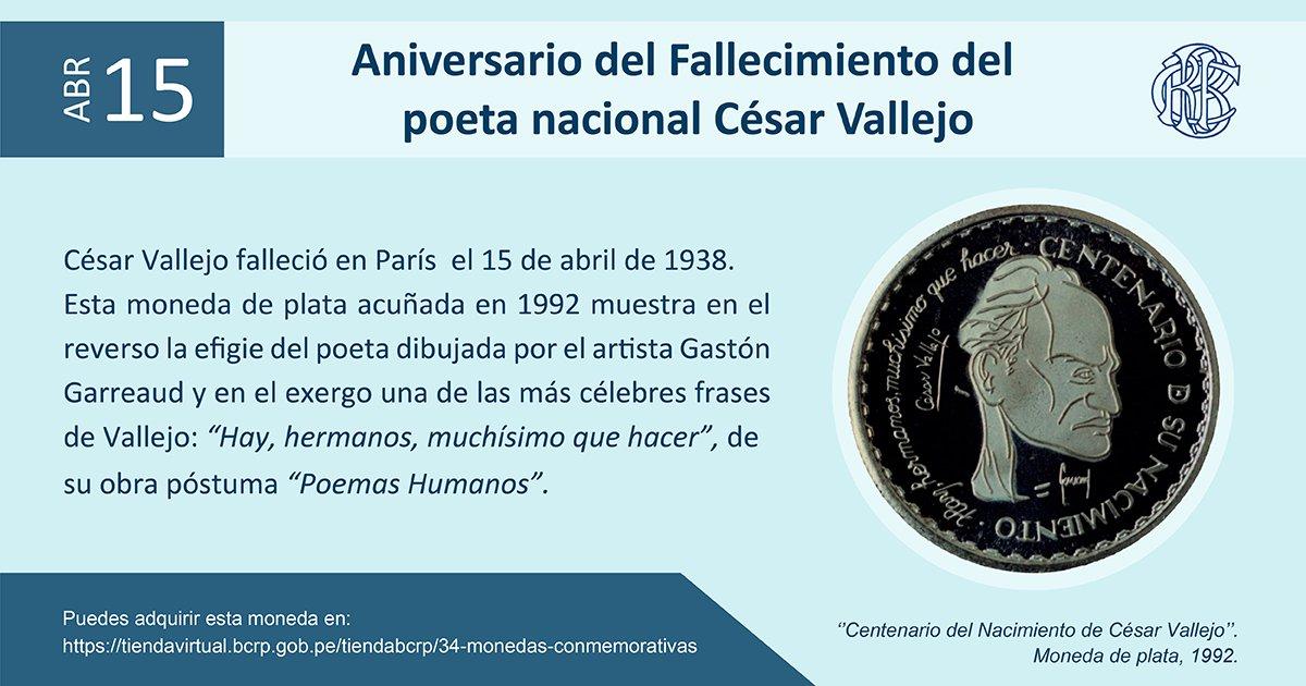 Aniversario Fallecimiento César Vallejo Efeméridesbcrp