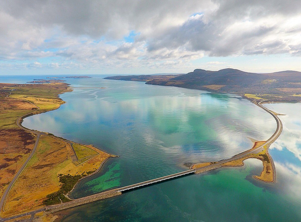 The turquoise blue waters at the Kyle of Tongue on the @NorthCoast500 seen from my DJI Phantom 4 drone #dji #phantom4 #kyleoftongue #sutherland #scotland @VisitScotland @VisitSutherland @VentureNorthSco @LairgandRogart @VisitBritain<br>http://pic.twitter.com/U8EpZY8t04