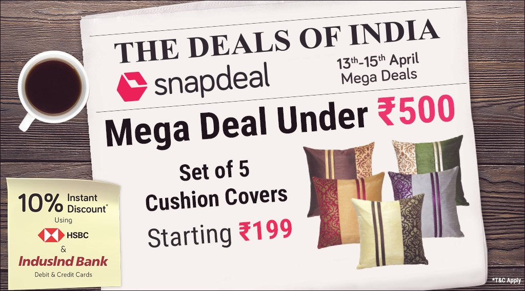 c9983981d SnapdealVerified account  snapdeal · 15 Apr 2018. Mega Comfort Deal  ...