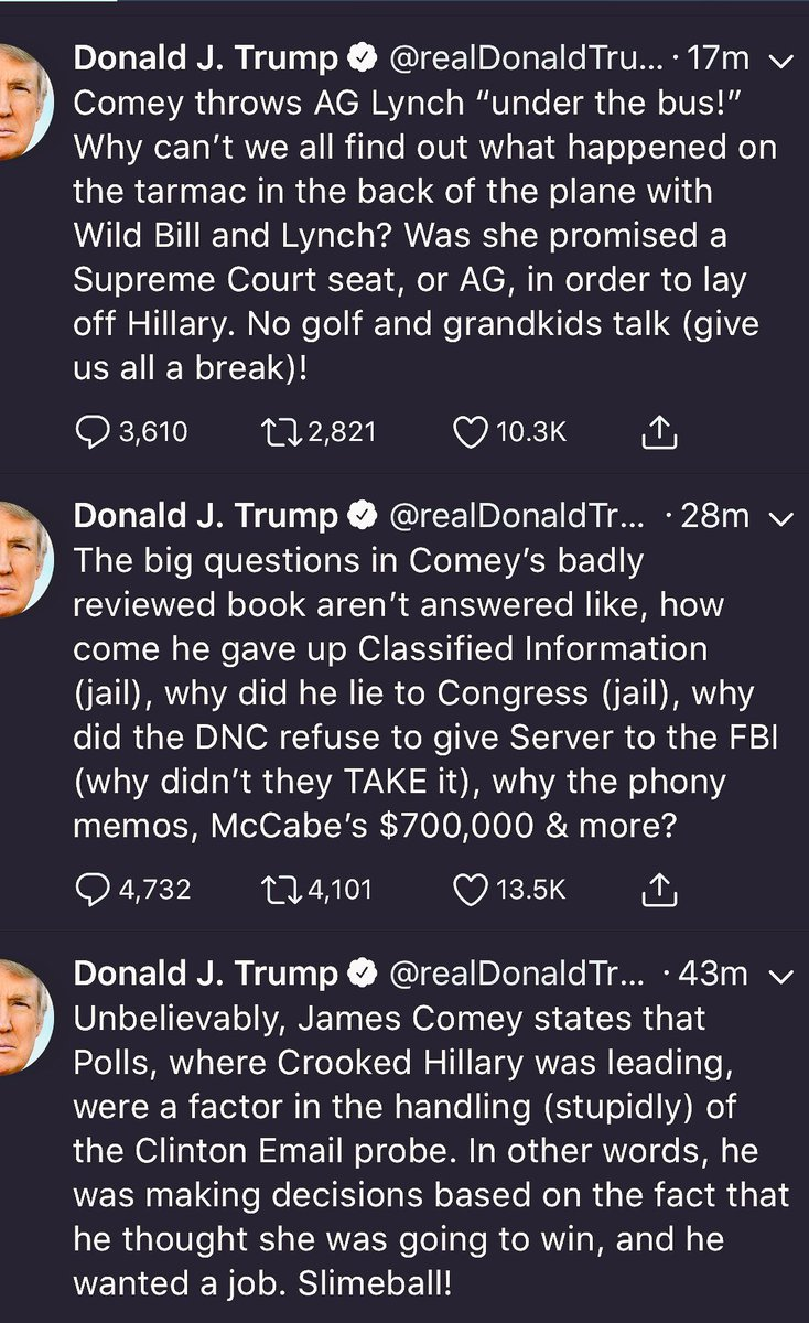 All the crazy you can get in before 8:30 am on #SundayMorning #SundayBrunch   Per tweet 2, he just pardoned these offenses in Libby (yes to obstruct).  He now uses enough randomized nicknames that I can't even follow this blithering idiot. #TrumpResign<br>http://pic.twitter.com/pSgT6QfUoy