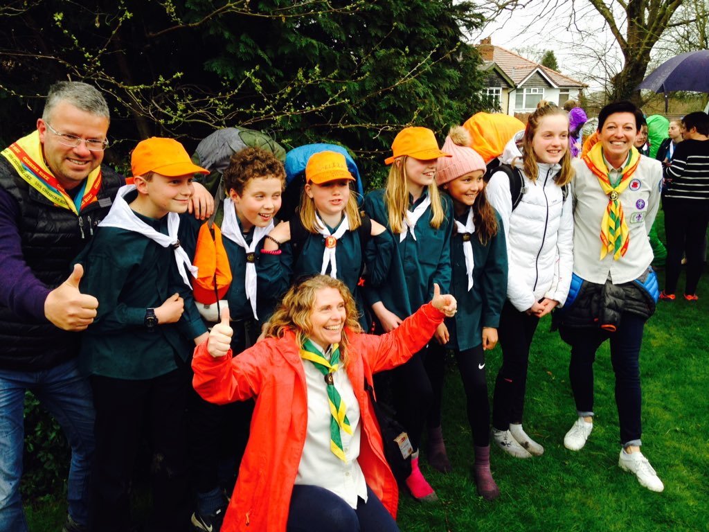 Joy for Bunbury Scouts at the end of @CheshireHike <br>http://pic.twitter.com/eHm0pKP6lv