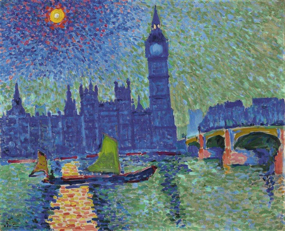 André #Derain  Paintings of London: Big Ben The Waterlo bridge Charing Cross bridge Westminster  #DiaMundialdelArte  #ArteYArt<br>http://pic.twitter.com/lxrNEb9E5x