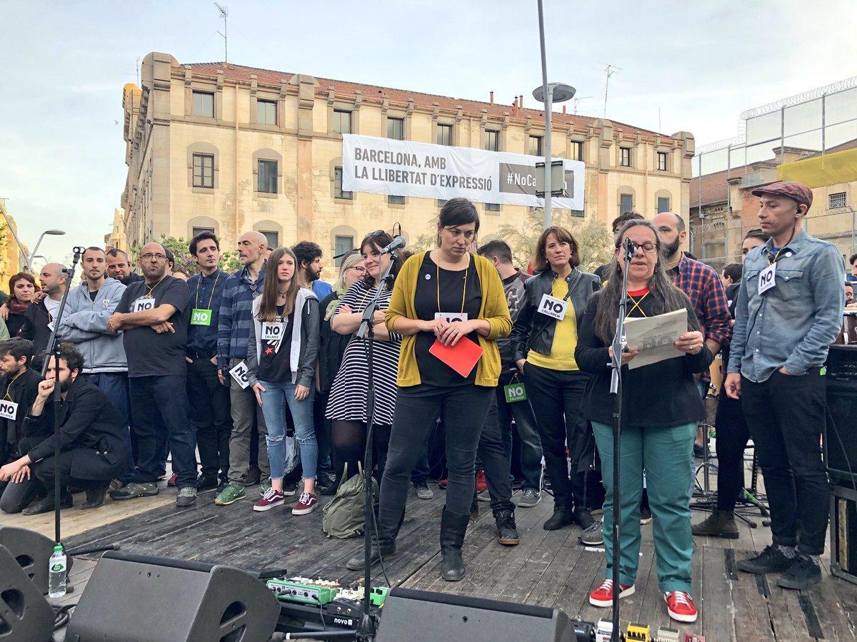 L'@assemblea, davant els atacs a la llibertat d'expressió, també crida @no_callarem! #RepúblicaARA