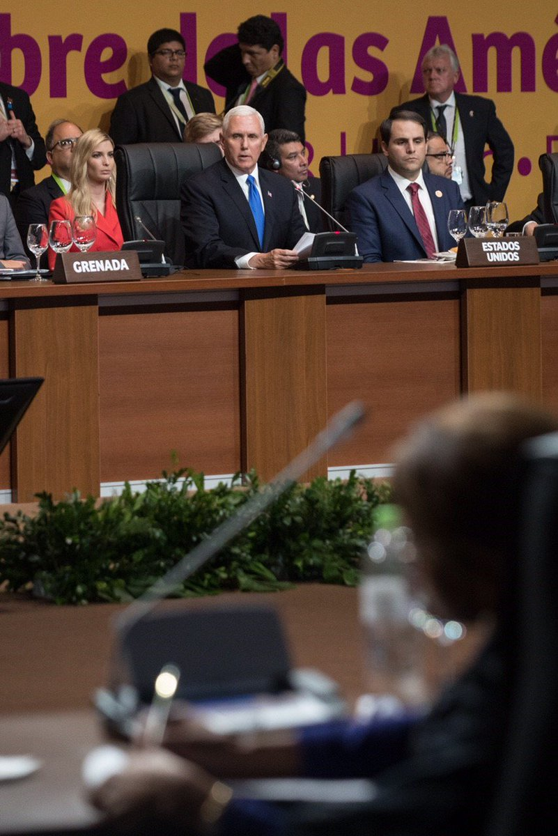 During my remarks to @SummitAmericas yesterday, I thanked the many nations who already expressed support & called upon all nations in our hemisphere of freedom to support the military action taken by the US & our allies & to condemn Assad's regime's use of chemical weapons..(1/2)