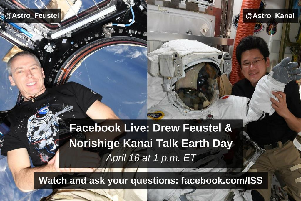 Ahead of #EarthDay, ask two Earthlings living off the planet, @Astro_Feustel & , al@Astro_Kanail your questions about our precious blue dot using ! Th#AskAstroey'll answer live tomorrow at https://t.co/0ynb4kR94n