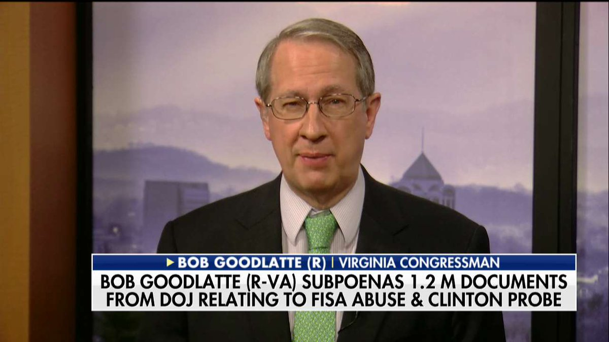 .@RepGoodlatte: 'The Congress is entitled to these documents, and we'll get them.' #SundayFutures @MariaBartiromo