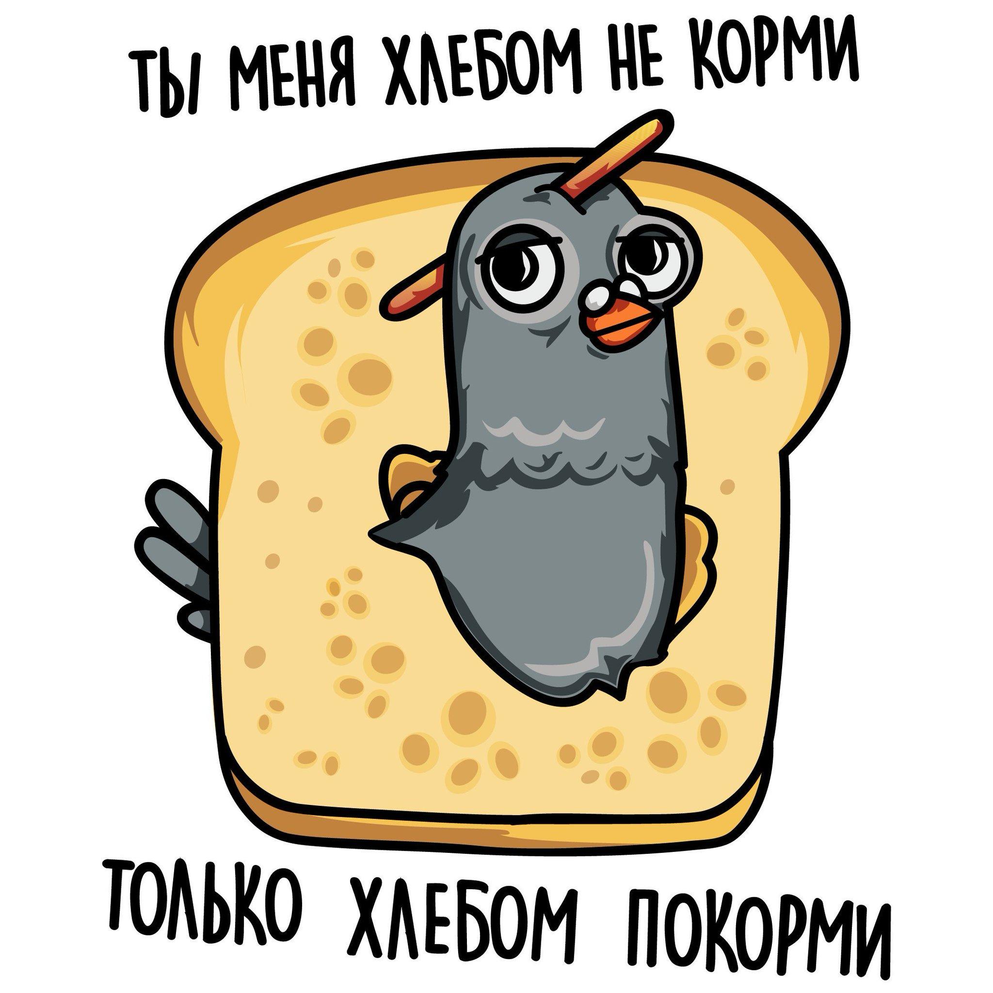 картинка с голубем меня хлебом не корми является значит