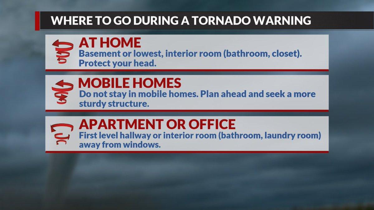 Tornado Warning : TORNADO SAFETY TIPS reminder Tornado
