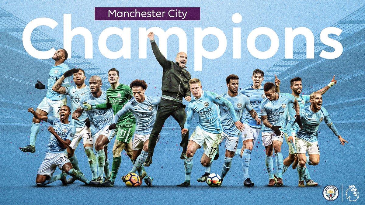 Congratulations @ManCity  2017/18 #PL Champions!