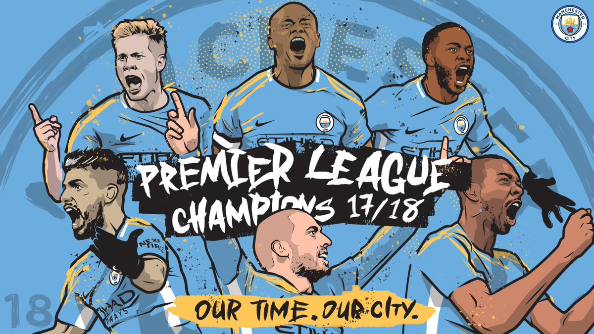 Our Time. Our City.  Premier League Champions 17/18 🏆  #mancity