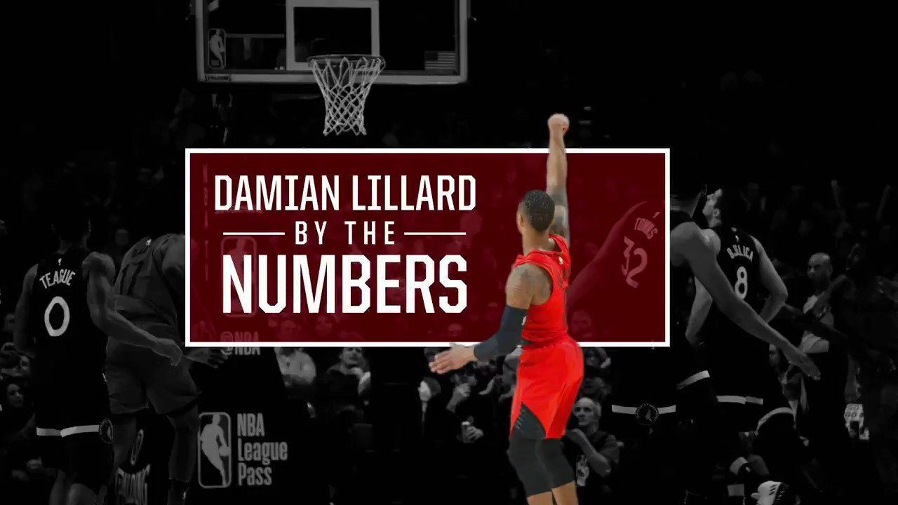 He puts 'em up.  @Dame_Lillard By The Numbers https://t.co/NBEf1Hyqtd