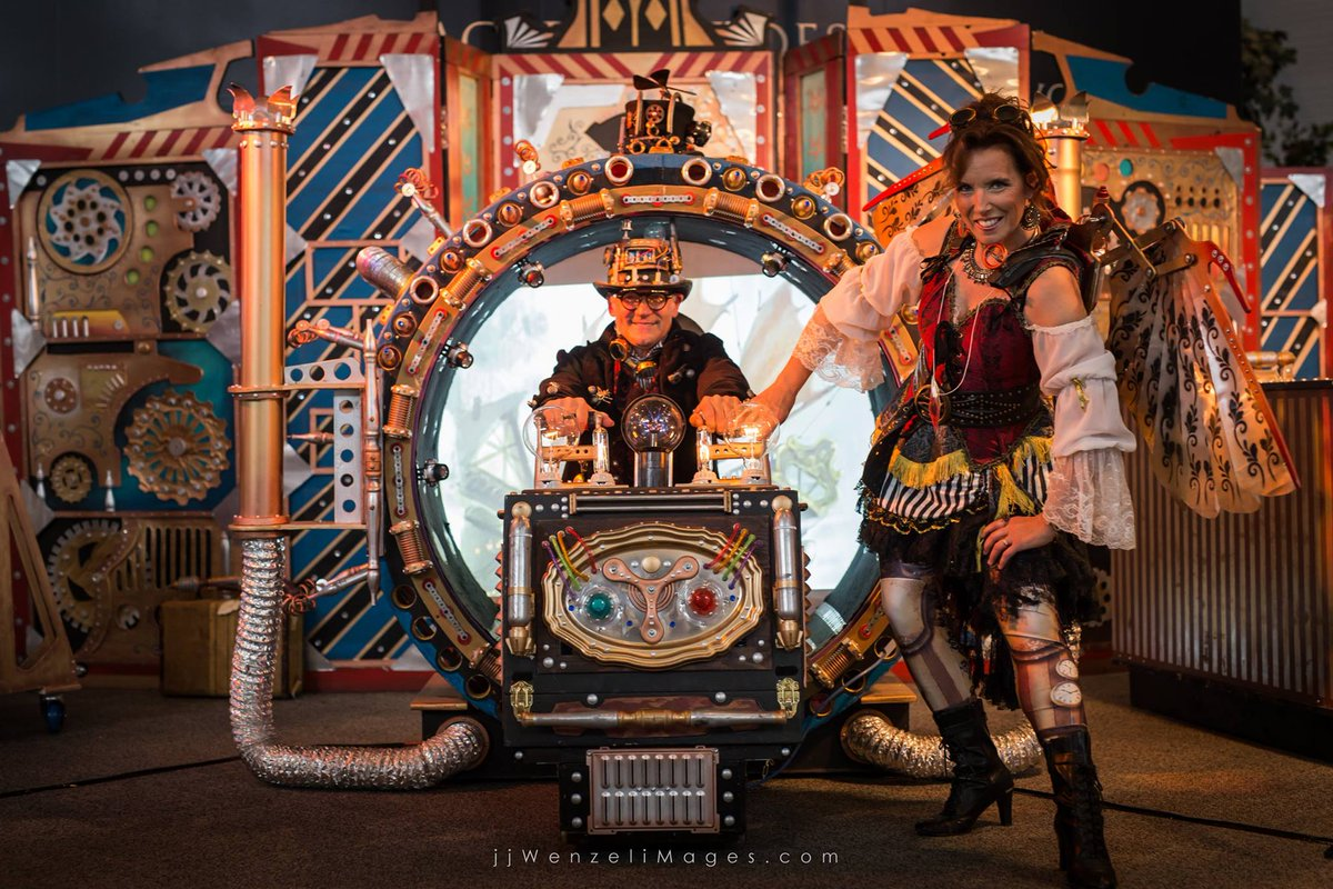 Ever wanted to take a ride in a time machine? Would you go backwards or forwards?  #majinx #majinxillusions #illusionist #magicians #magic #steampunk