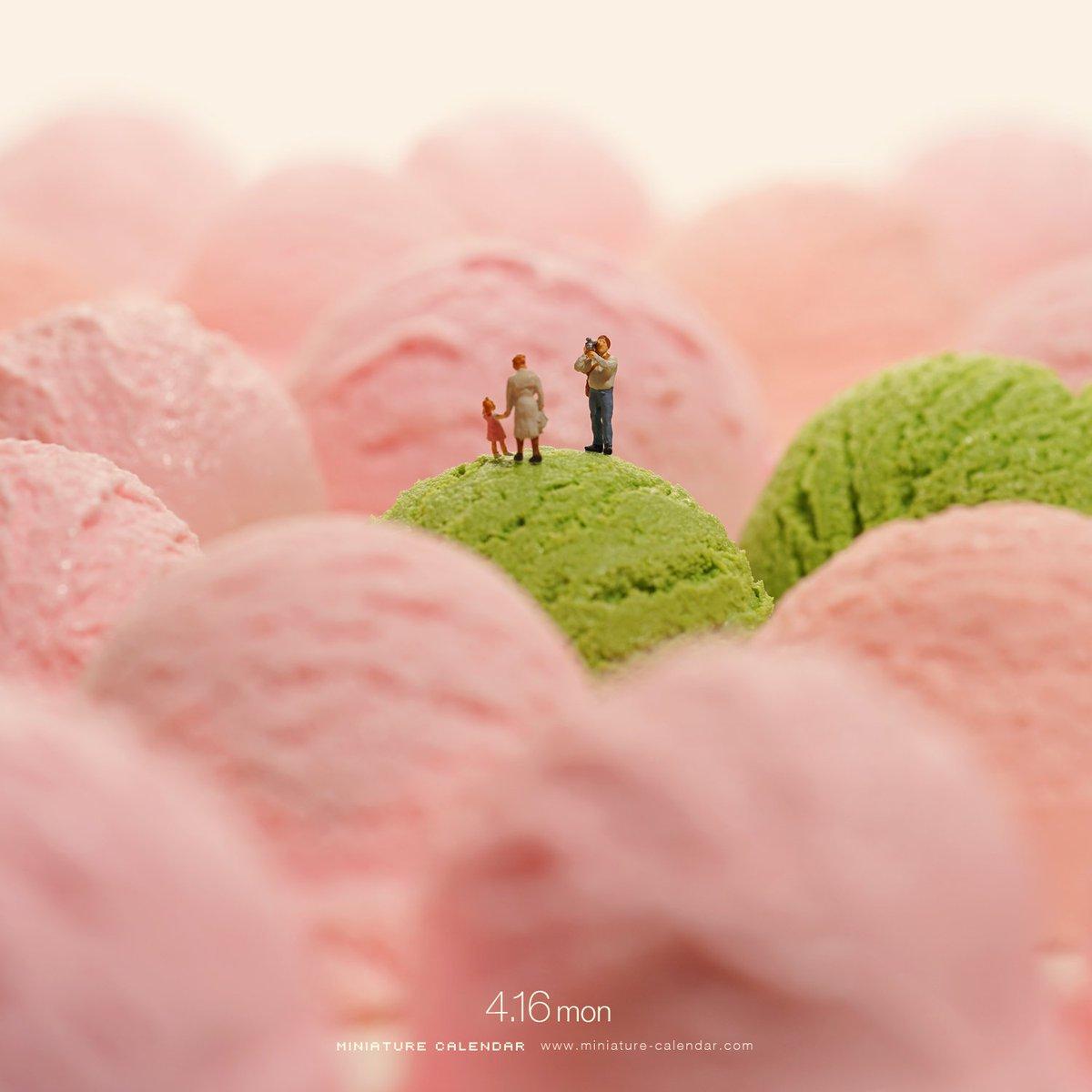早くしないと桜がチルド   #アイス #ストロベリー #桜