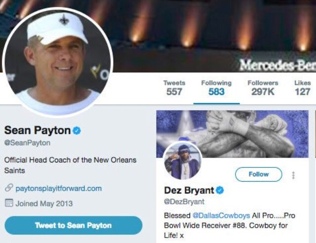 Mike Fisher On Twitter Sean Payton But A Follower From