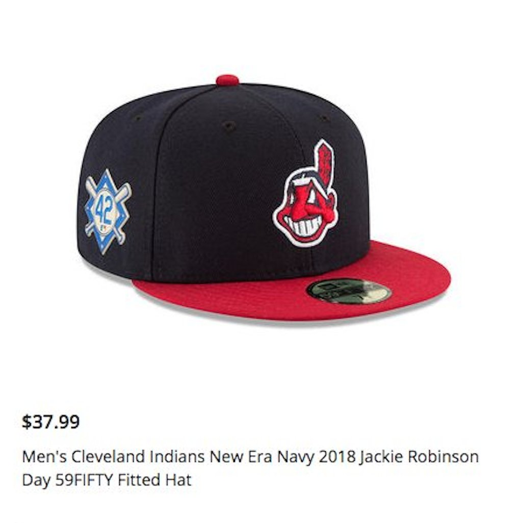 04b2fe16 mlb shop removes hat with chief wahoo and jackie robinson day patch  following backlash