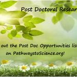 Post Doctoral Research    New programs and application windows are being posted all the time! https://t.co/ex2MshZpLO   Narrow your search by using the Advanced Search Page. https://t.co/YkEVK7tDrZ