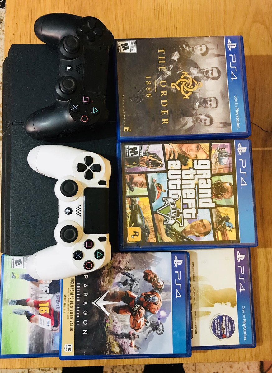 Heliu On Twitter Ps4 De 500gb 2 Controles Blanco Y Negro Cable
