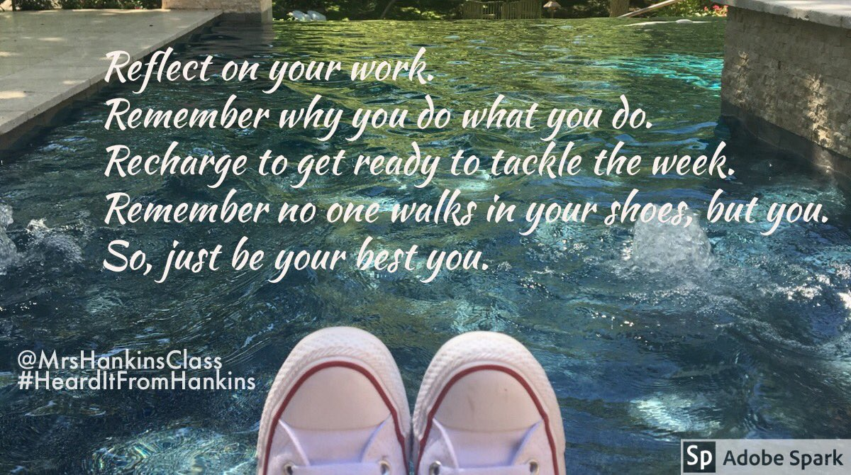 Reflect. Remember. Recharge... &amp; get Ready for tomorrow. Be your best you! #BeKindEdu #BeTheOne #KidsDeserveIt #JoyfulLeaders #LeadUpChat #LeadLAP #TLAP #EdChat #EduChat #PositiveVibes #CelebrateMonday #MondayMotivation #MotivationMonday #KirkROAR #CfisdForAll #HeardItFromHankins<br>http://pic.twitter.com/WvcxRw0moG
