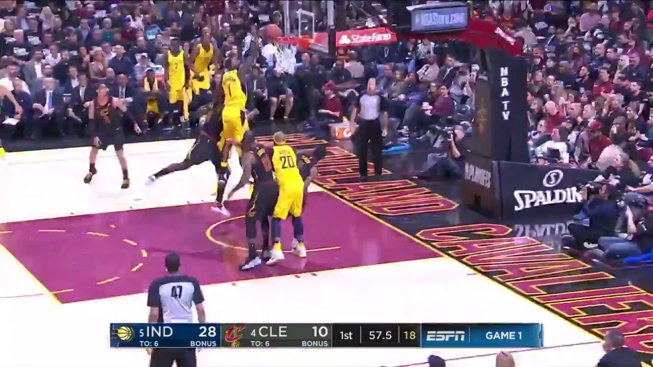 LANCE STEPHENSON WITH AUTHORITY! ������  #Pacers #NBAonABC https://t.co/PkQpgDTLUL