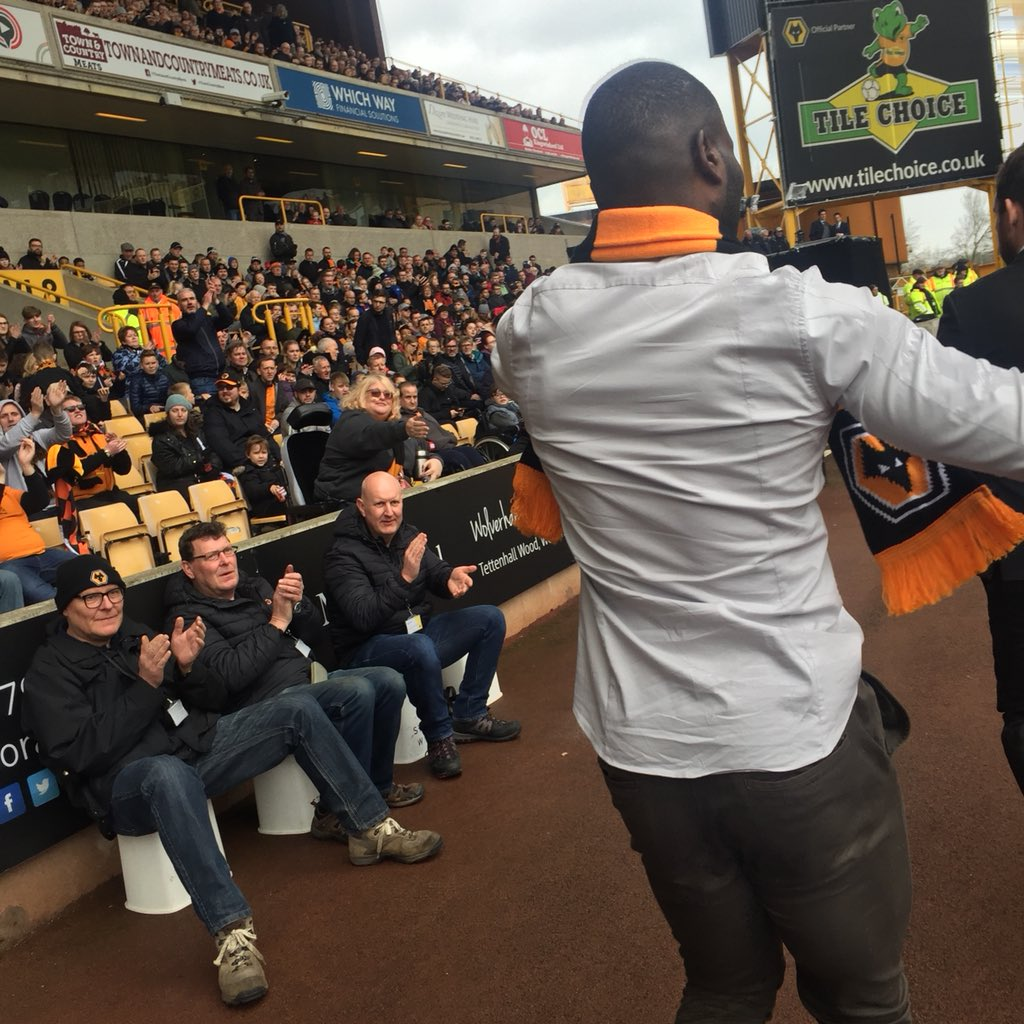 A memorable day with @Wolves on achieving promotion to the Premier League meeting some good friends of mine including the loyal supporters and congratulations to the players for an incredible season...thank you all for the invite #Chop #thepackisback #promotion #premierleague<br>http://pic.twitter.com/Oyzfz0dWzr