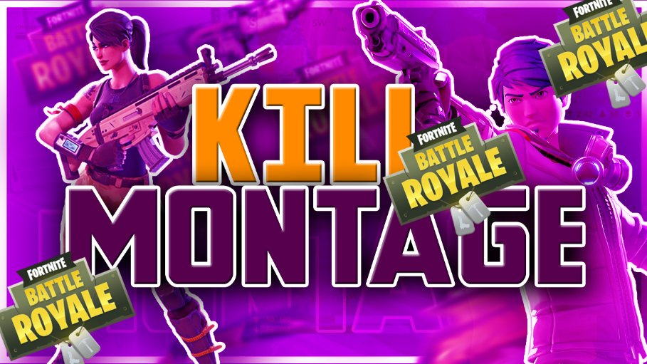 Hypers Designs On Twitter A Fortnite Kill Montage Thumbnail I Made