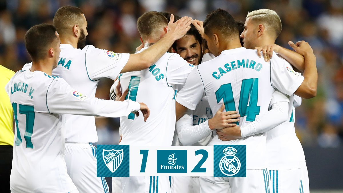 Chấm điểm kết quả Malaga 1-2 Real Madrid