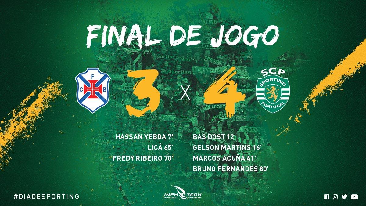 Electrizante!! Grande dérbi de Lisboa com os Leões a vencerem por 4-3!  🦁💪 #DiaDeSporting #CFBSCP