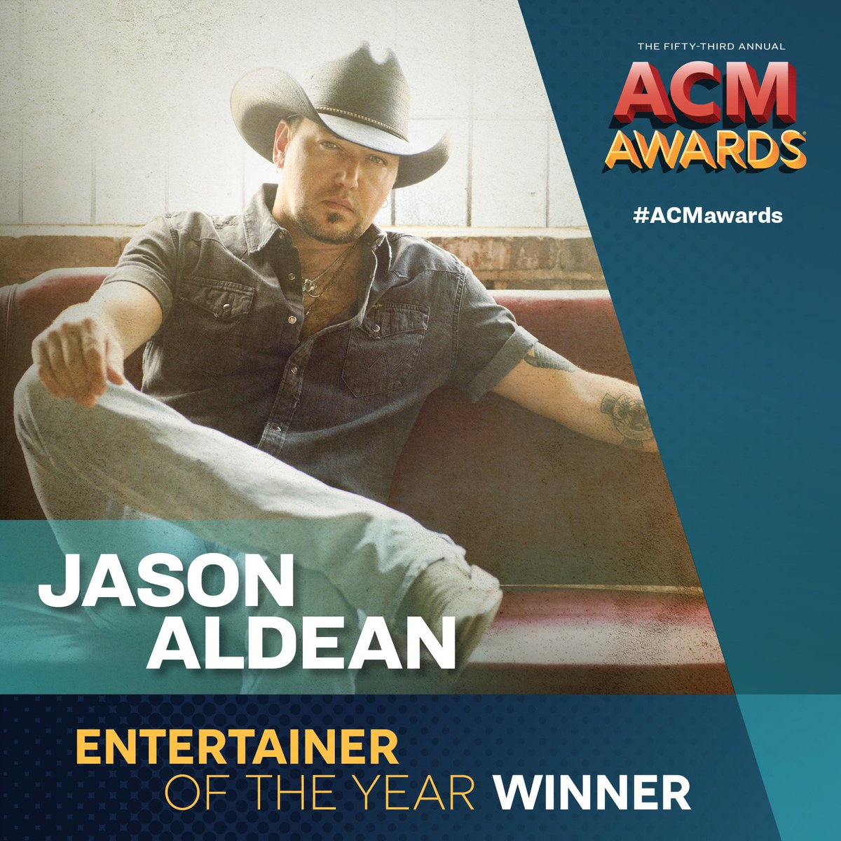 .@Jason_Aldean is the much deserved #ACMawards Entertainer of the Year! #VegasStrong