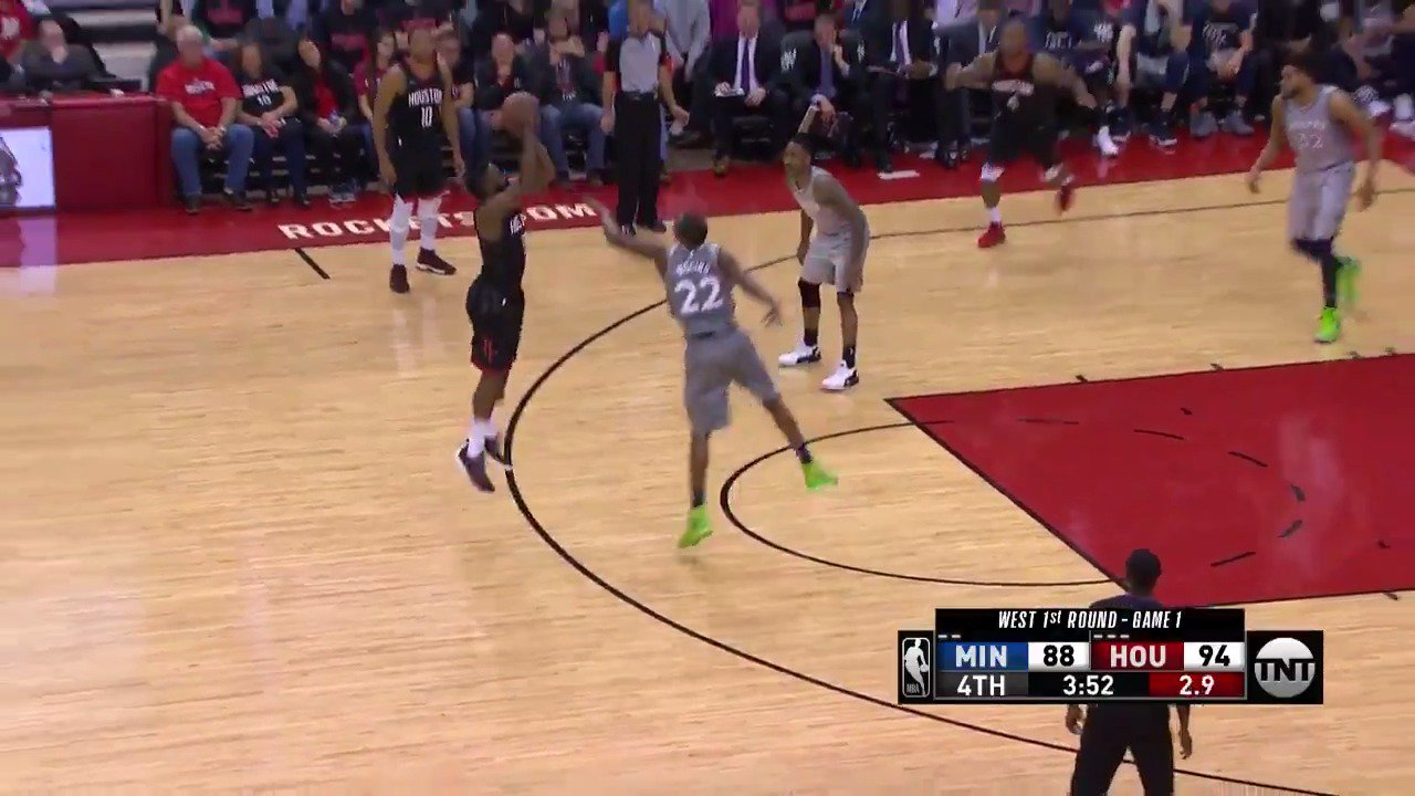 4⃣3⃣ PTS... 7 TRIPLES for James Harden!  #Rockets 101 | #AllEyesNorth 95 with 2:23 to go.  ��: @NBAonTNT https://t.co/L4aMJttqmk