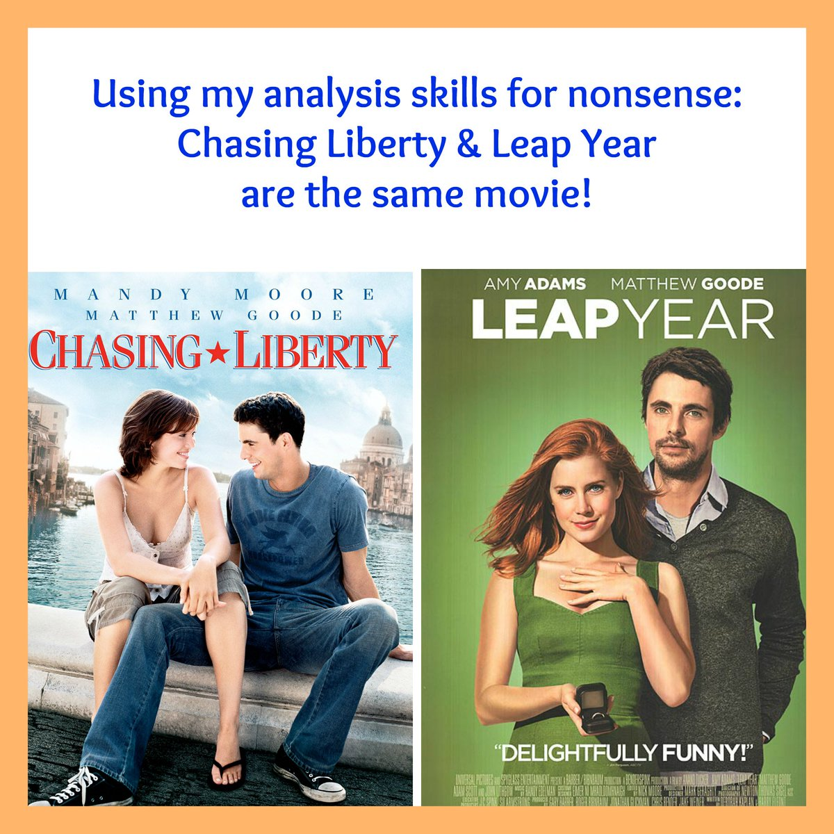Chasing Liberty   Leap Year are the same movie... 8e08598c5
