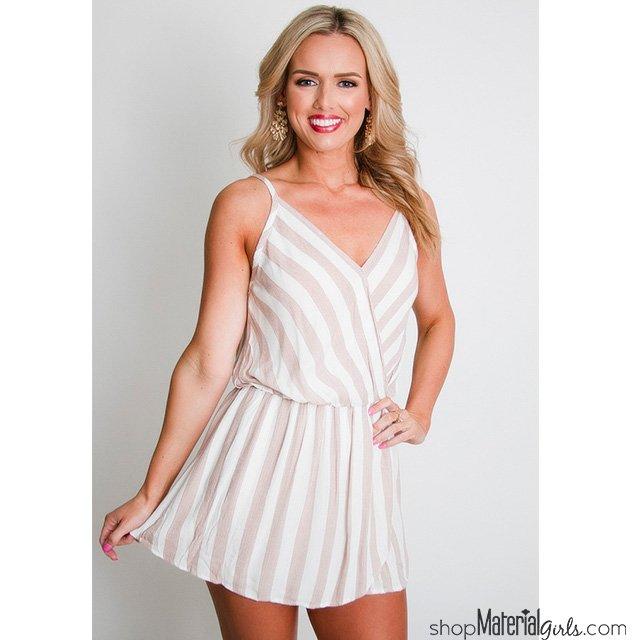 b33fb4afa4c5 Such a cute and fun look for spring!  https   www.shopmaterialgirls.com  s stripe+skort+romper …  striperomper   blushromper  blueromper ...
