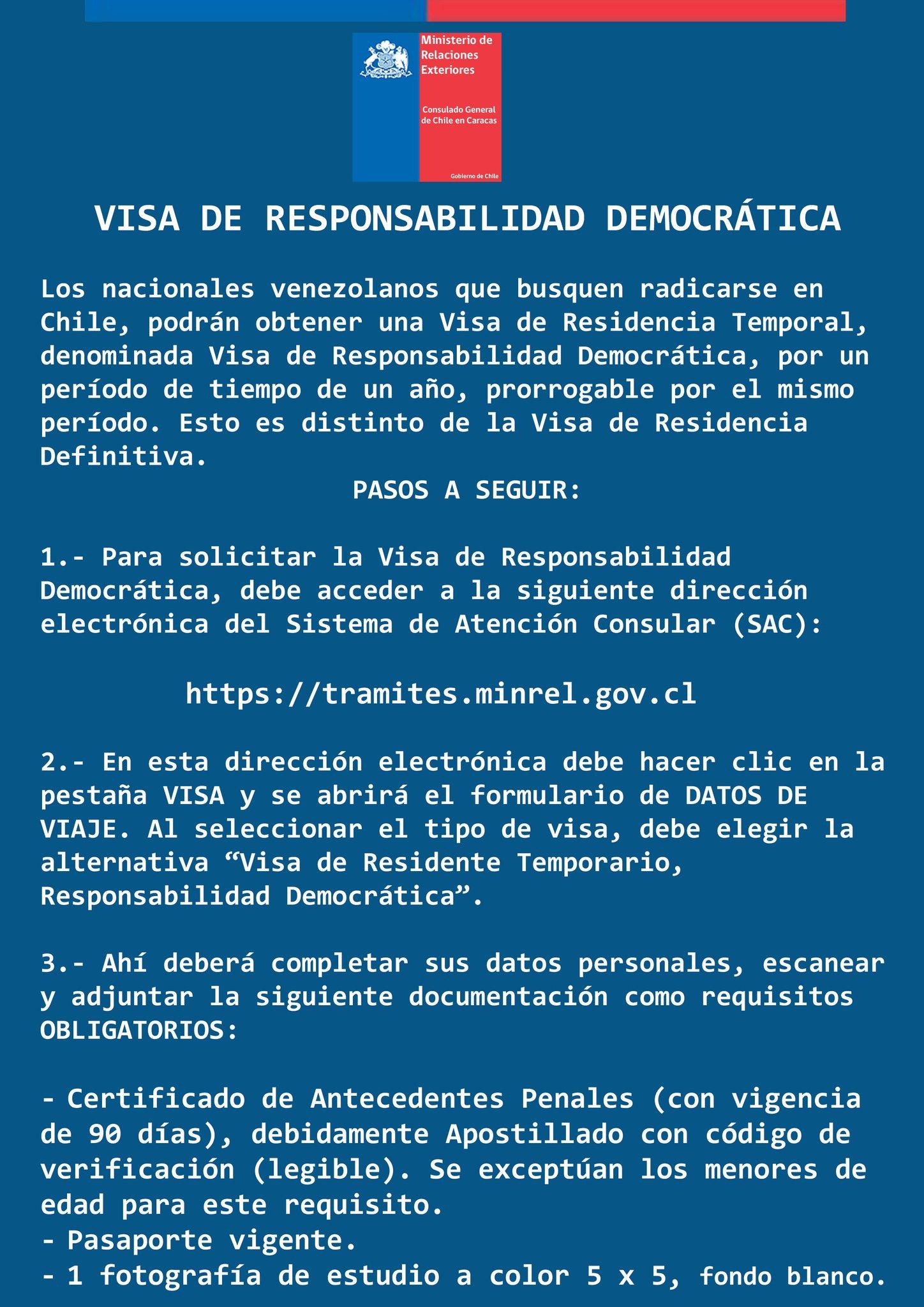 Consulado General De Chile En Caracas On Twitter