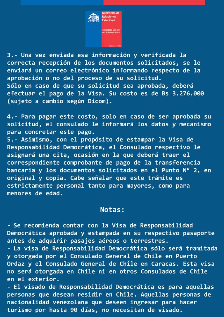 Consulado General De Chile En Caracas على تويتر