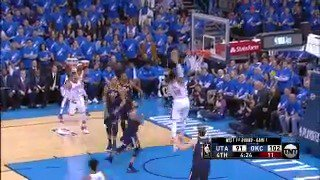 Steven Adams skies for the POWERFUL alley-oop! ��  #ThunderUp @NBAonTNT https://t.co/6b5UvzfTbf