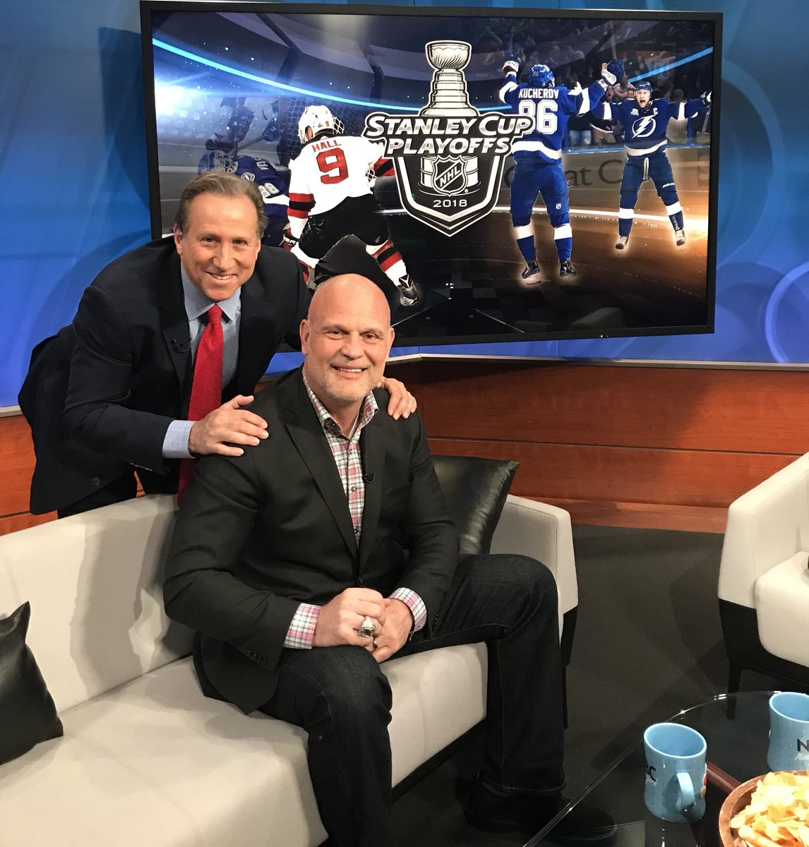 Coming up @SportsFinal4NY - @KenDaneykoMSG joins me to talk @NJDevils Playoff Hockey! Devils return to the @PruCenter Monday night on @MSGNetworks ! Join us at Midnight!