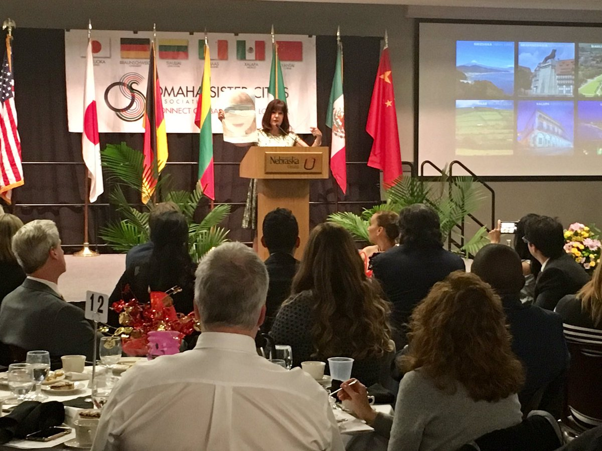 Honored to serve as the keynote speaker tonight at @OmahaCities Annual Meeting. Thank you for all that you do to enhance global awareness for our youth and citizens through cultural, educational, humanitarian, and economic development connections. @SisterCitiesInt