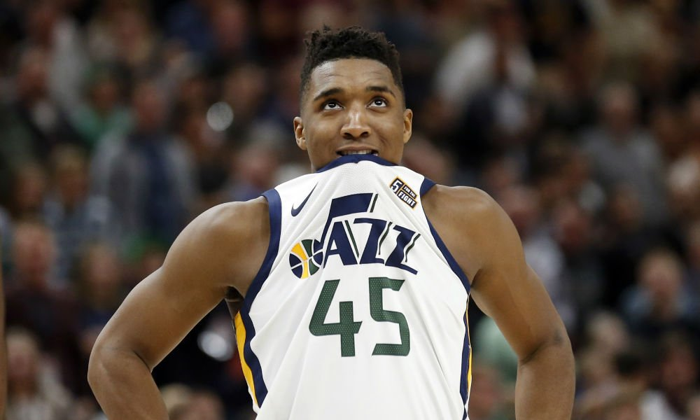 Donovan Mitchell is the first player since LeBron James to record at least 25 points and 10 rebounds in his playoff debut.  #JazzNation #jazz #takenote