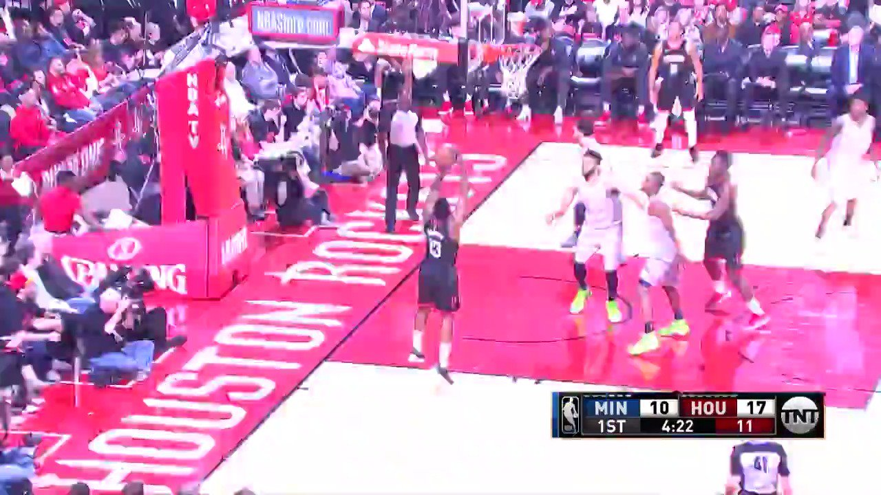 James Harden creates space with the stepback! #Rockets  ��: TNT https://t.co/FLuFd7YH70